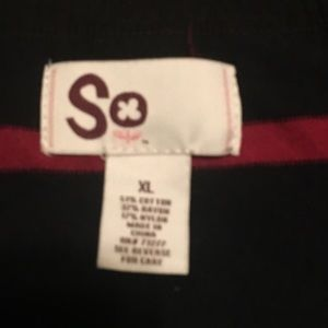SO Sweaters - Black with colored striped size xl sweater